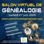 Salon virtuel de Généalogie - Samedi 27 juin 2020